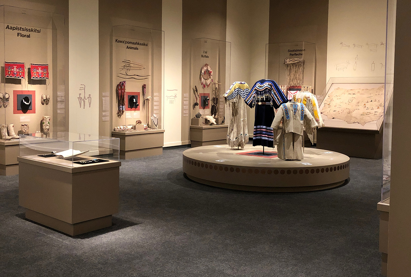 Albertine Crow Shoe's exhibit at the Glenbow museum.  Photo by Katrina Shade